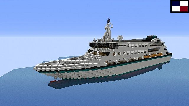 ms atlantis  small cruise ship minecraft project