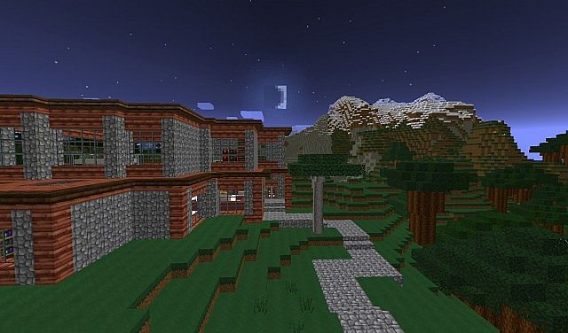 Medium Sized Modern House Minecraft Project