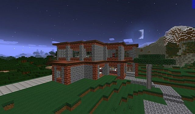 Medium Sized Modern House Minecraft Project