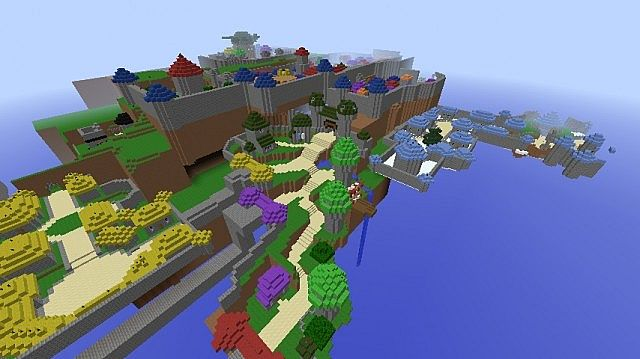 Overview of the hub-areas of Wizard City