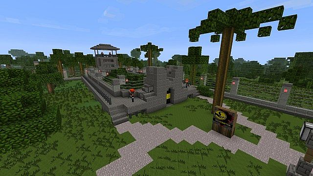 Minecraft Jurassic Park Free Download