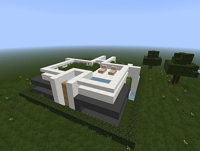 Dera modern home 18x18 minecraft project for Modern house 18x18
