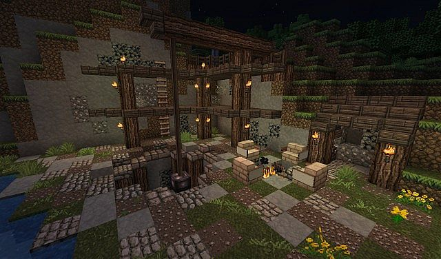 1 Medieval building - Old mine Minecraft Map