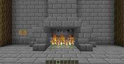 Hidden Fireplace Door Minecraft Map & Project