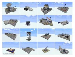 Military Building Bundle (C&C Generals) Minecraft Map & Project