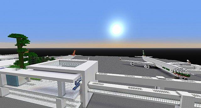 Майнкрафт карта аэропорт - YouTube