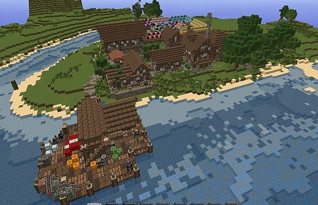 Medieval Fishing Village Minecraft Project