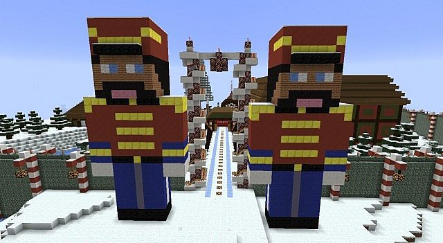 Nutcracker Soldiers guard the gate for the sleigh runway.