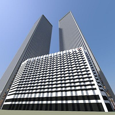 Twin Towers Of The World Trade Center Minecraft Project
