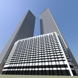 Twin Towers of The World Trade Center Minecraft