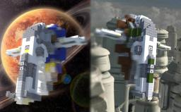 "Firespray-31-class patrol and attack craft: ""Slave I"" Minecraft Project"