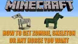 Using /summon on horses and how to make them Awesome! Minecraft Blog Post