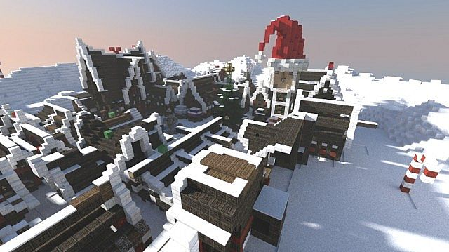 Minecraft Christmas Houses.Christmas Village I Merry Christmas From Drumbledore S Army