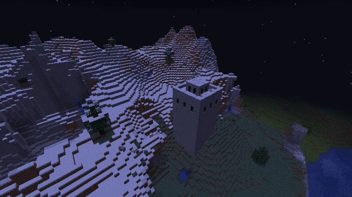 Example mountain biome custom structure.