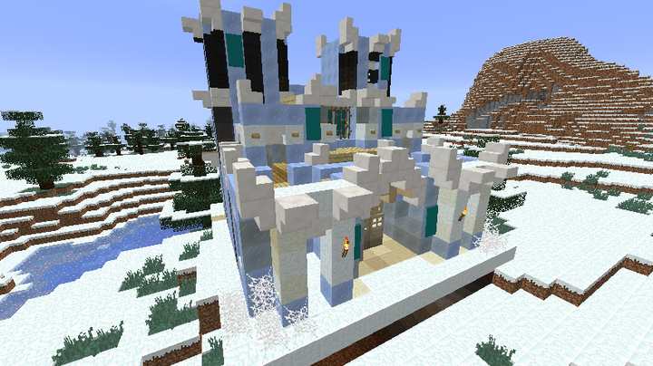 Example snowy biome custom structure.