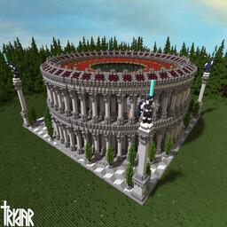 Roman Colosseum +tutorial Minecraft Map & Project