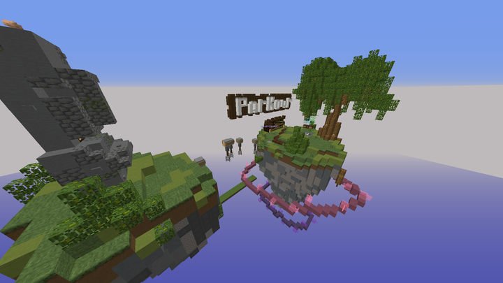 One of our minigames - Parkour!