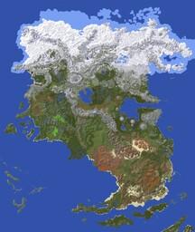 Paralon Continent #1 - Aldara [20K x 22K] Minecraft Map & Project