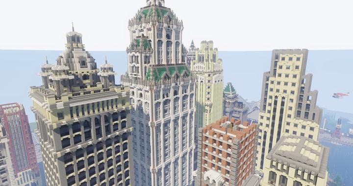 Skyscraper 'topper' details.