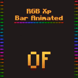 [RGB] Xp Bar Animated [Optifine] Minecraft Texture Pack