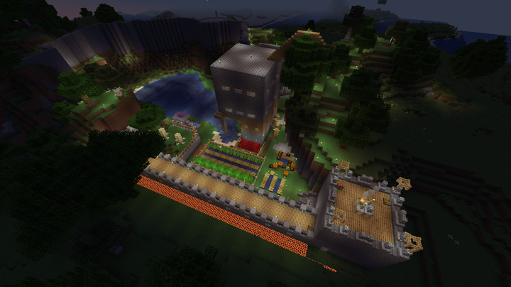 Arial view of the base!