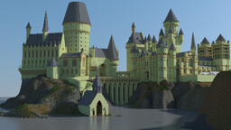 Hogwarts Castle 2.0 (Open to the public on Bedrock) Minecraft Map & Project