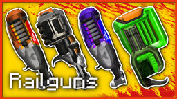 RAILGUNS - Sci-Fi Weapons Resource Pack [Animated, Emissive & Specular maps] Minecraft Texture Pack