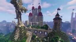 the dragons city/Mon magic school Minecraft Map & Project
