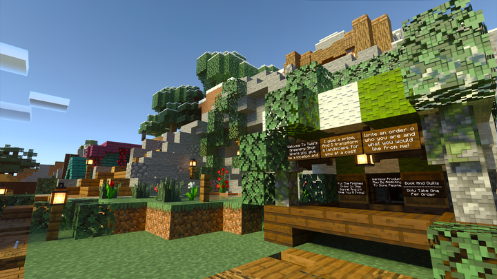 Marketplace near survival spawn