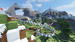 Winter - Large roller coaster Minecraft Map & Project