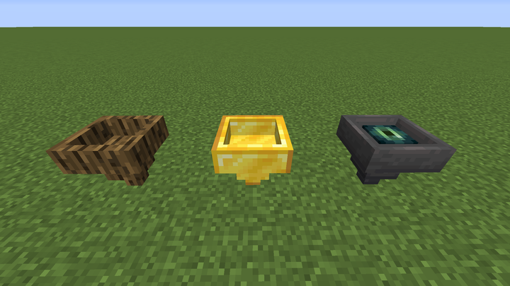 Oak, Gold and Ender Hopper