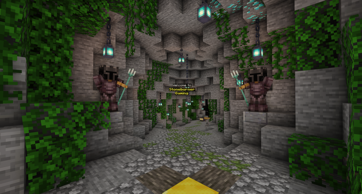 Our welcome area to say hello to new players and guide them through our rules!