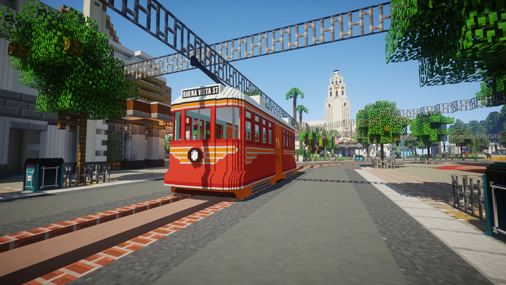 Red Car Trolley on Buena Vista Street