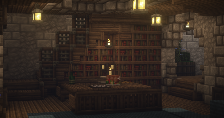 Small library and study in the Kingdom of Varia's Castle.