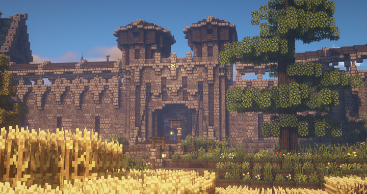 The main gate to Silverhollow, the capital of Varia.