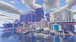 Linefield Cyberpunk city Minecraft Map & Project