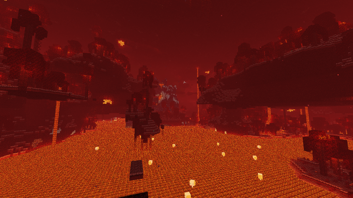 Cinematic Shots of the Nether With Nether Addon - 512x POM