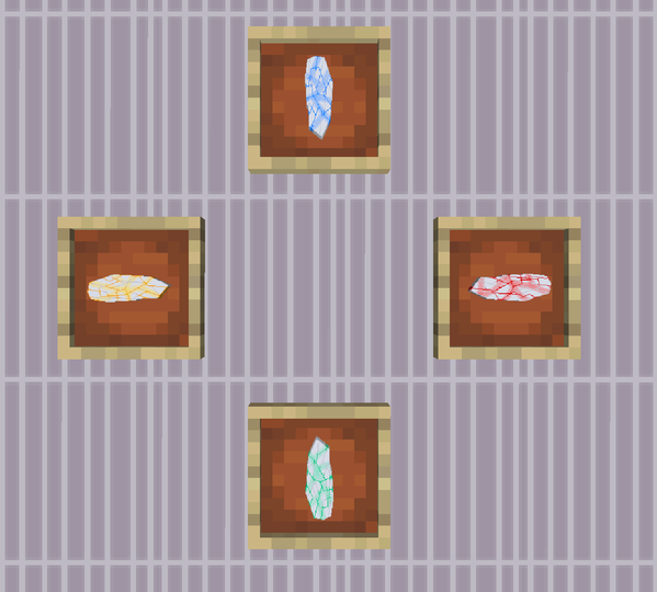 Gold, Diamond, Iron Ingots, and Netherite as Kyber Crystals