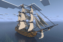 HMS Victory - 1st rate 104 gun Ship Of The Line - Full Interior (Finally finished!) Minecraft Map & Project