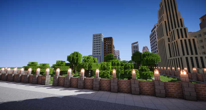 Skyscrapers over River Park