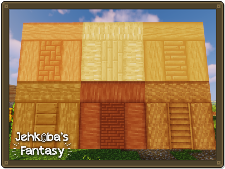 All planks, stripped logs, and other wooden items have been tone matched for your building pleasure.