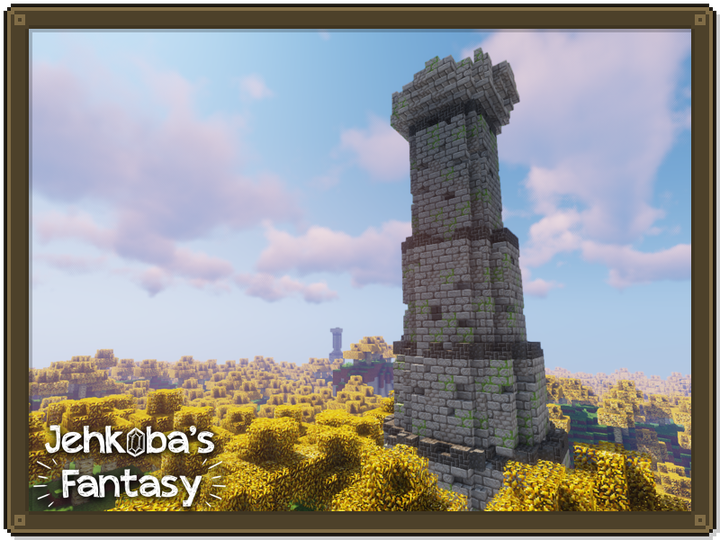 Ancient towers and forests of birch - with Jehkoba's Golden Birch Plug-In.