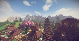 Japanese Village Minecraft Map & Project