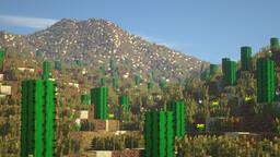Saguaro National Park - West (Tucson Mountain District) 2k x 2k Minecraft Map & Project