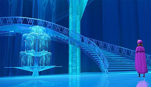 elsas ice palace from frozen minecraft project