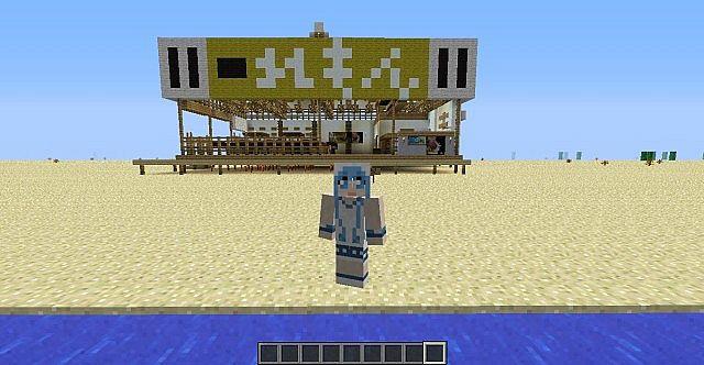 lemon beach house from shinryaku ika musume  squid girl  minecraft project