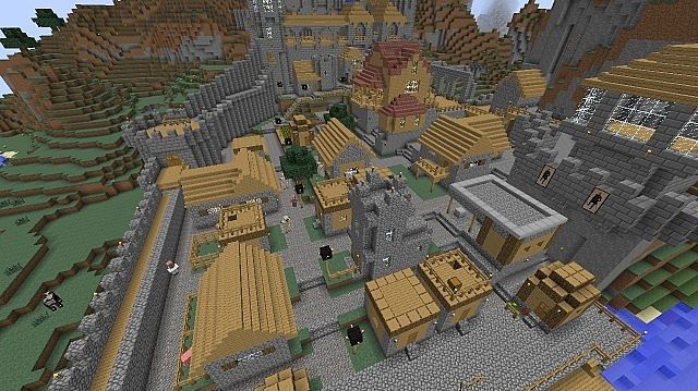 Island With Village Tree House And Castle MAP DOWNLOAD Minecraft - Minecraft maps fur ps3 downloaden