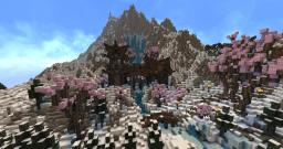 Oriental Mountain-Village (on jamziboys Rocky Island) Minecraft
