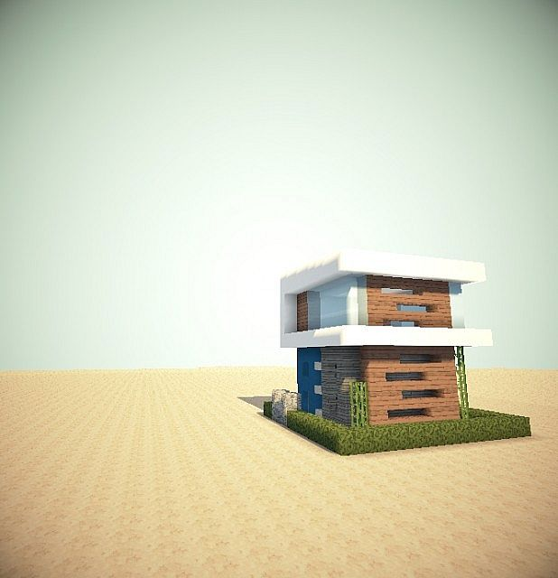 """POZAY_UNO""Modern House 10x10 Lot Minecraft Map"