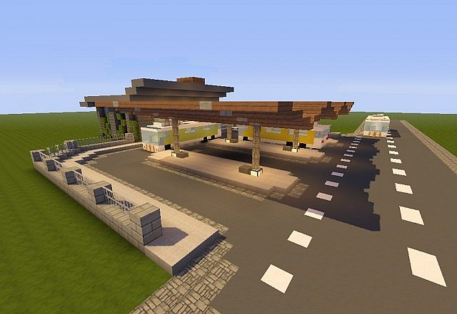 Modern Bus Station Minecraft Project